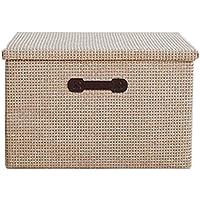 ERRU- ストロークロスアート衣類収納ボックスラージフォールドカバー純粋なカラーロッカーフィニッシングボックス収納バスケット 仕上げボックス ( 色 : イエロー いえろ゜ , サイズ さいず : L-48*32*30cm )