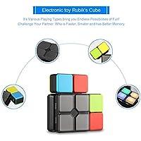 baynne 4ゲームモードマジックキューブパズルトイwithライト電子教育玩具