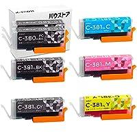 Canon 大容量タイプ BCI-381XL + BCI-380XL 用互換インク 7個セット (ブラック多め、グレー有)【バウストア】