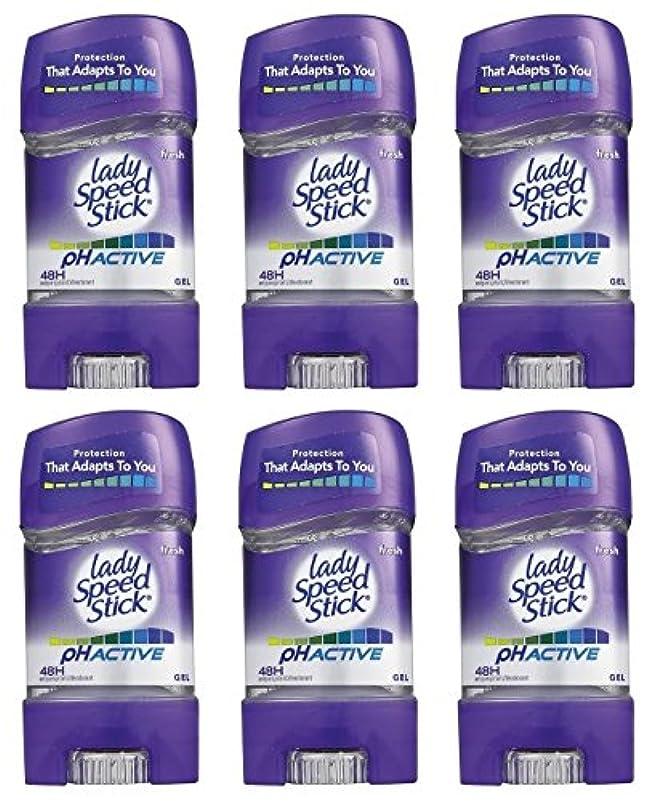 マイクロフォン領収書不器用(Pack of 6) Lady Speed Stick PH Active Anti-perspirant Deodorant Gel Stick for Women 6x65g - (6パック) レディー?スピードスティック...