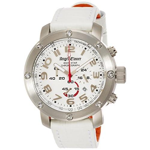 [エンジェルクローバー]Angel Clover 腕時計 エイトスター ホワイト文字盤 クロノグラフ NES46SWH-LEATHER メンズ