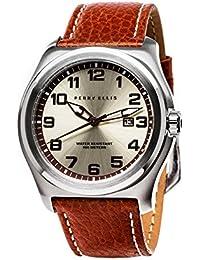 [ペリー・エリス]Perry Ellis 腕時計 MEMPHIS(メンフィス) クォーツ 44 mmケース 本革バンド 04003-01 メンズ 【正規輸入品】