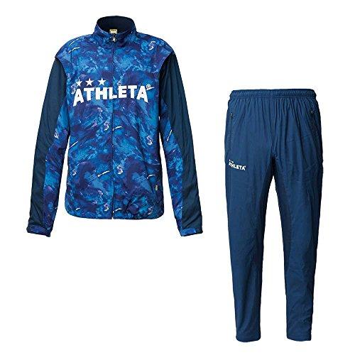 ATHLETA(アスレタ)裏地付きウインドジャケット・パンツ上下セット サッカー フットサル ウィンドブレーカー 02290/02291 NVY×NVY L