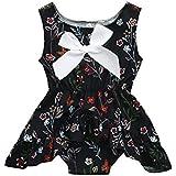 (プタス)Putars幼児の赤ちゃんの女の子の綿花の花プリント女の子の服の服ロンパージャンプスーツ3ヶ月 - 18ヶ月