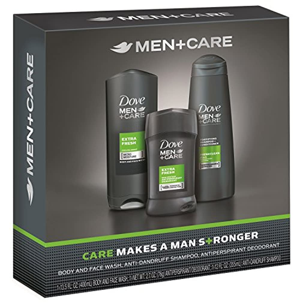優れました優勢共役Dove Men+Care Gift Pack Extra Fresh ダブ メンプラスケア ギフトパック エクストラフレッシュ