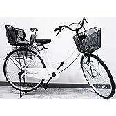 【子供乗せ 自転車】2009年モデル両足スタンドママチャリ。駐輪時の安定性向上!子供乗せセット! 26インチ HS-514 ホワイト