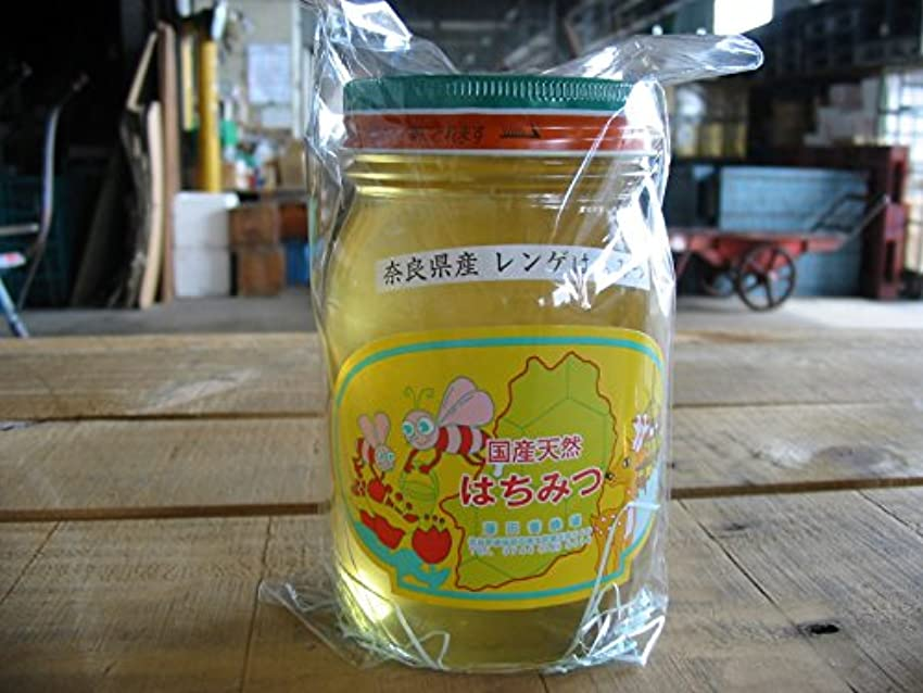 中間事故組奈良県産 天然 レンゲ はちみつ 600g詰め 蜂蜜 ハチミツ