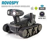 ROVOSPY LT-728 ブラック WiFi 戦車 タンク ロボット 遠隔操作 ラジコン 監視カメラ iPad/iPhone/Android対応 高性能IPカメラ搭載 ★スマホ対応日本語説明書付き★ 暗視対応 マイク内蔵 防犯カメラ