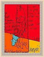 ポスター ヴァレリオ・アダミ PLACARD DERRIDA 限定500枚 サイン ナンバリング入 額装品 ラルゴフレーム(ゴールド)