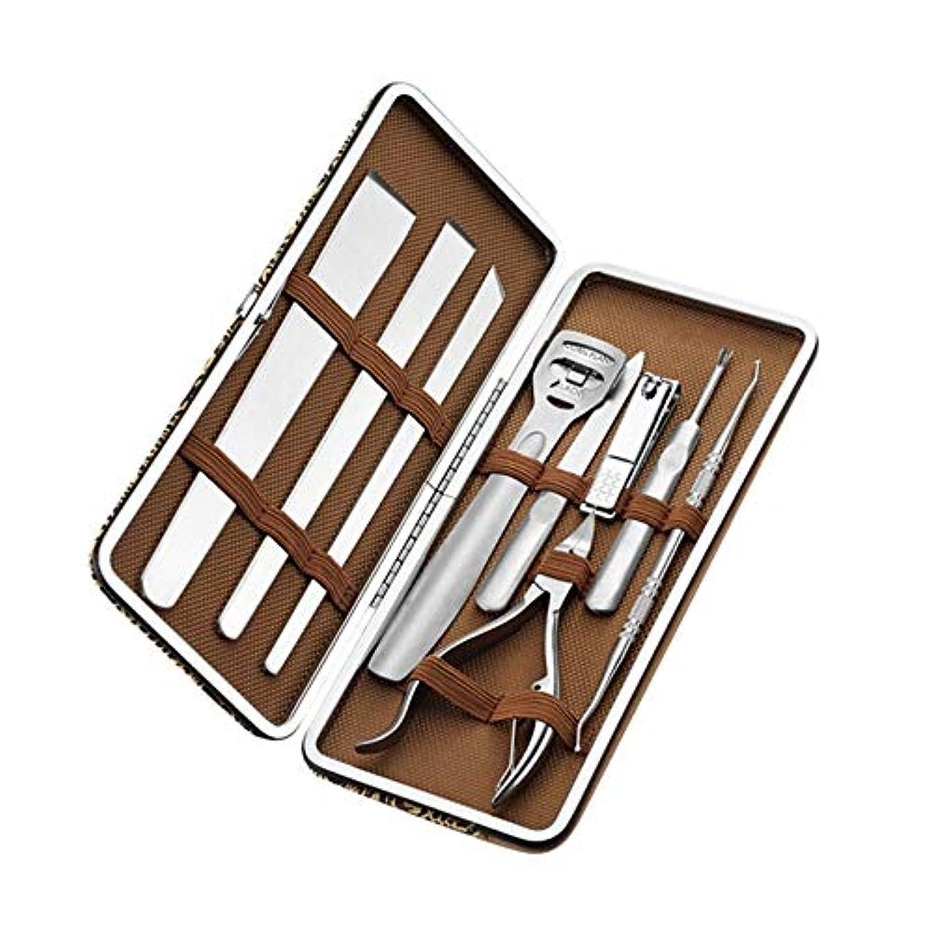 醸造所蛾トランペットJIAYIZS ペディキュアナイフセットの装飾フットツールネイル特別ネイルクリッパーインレイプライヤー (Color : Silver)