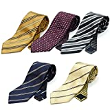 (スミスアンドスコット) Smith & Scott 全24パターン 洗濯 出来る ポリ ウォッシャブル ネクタイ ブランド 5本 セット 無地 ストライプ 小紋 チェック ドット 柄 ビジネス ブランド ネクタイ タイプ15