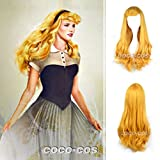 COCO-COS 耐熱コスプレウィッグ オーロラ姫風 キャラクターウィッグ wig かつら