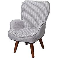 ドウシシャ 高座椅子 1人掛けソファー 座椅子 立ち座りラクラク 座面回転式 グレー LKR-GY