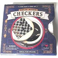 ソリッド木製Travel Checkers Game