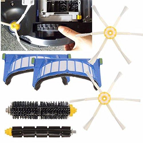 6pcs交換用掃除機パーツfor iRobot Roomba...