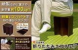 NHK「まちかど情報室」で紹介されました!紙でできた折りたたみエコチェア アイデア 便利 日本テレビ「ヒルナンデス」で紹介されました!