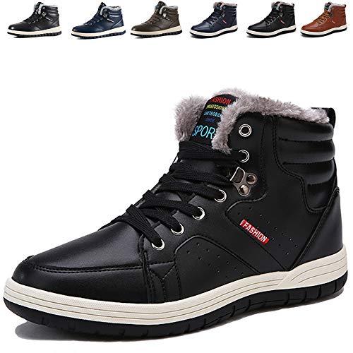 Mannpoスノーシューズ ブーツ メンズ 防滑 防水 防寒のスノーブーツ 雪靴 アウトドア 通勤用(X-ブラック 26.0)