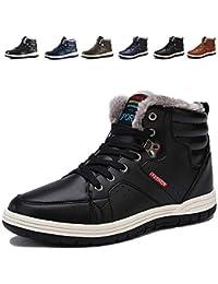 [Mannpo] スノーシューズ ブーツ メンズ 防滑 防水 防寒のスノーブーツ 雪靴 アウトドア 通勤用(X-ブラック 27.0)