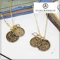 "Alisa Michelle(アリサ・ミッシェル)""BE YOU""2コインゴールドネックレス /ali-ss02-g"