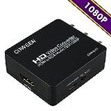 HDMI to RCA コンポジット 1080P 音声出力可 HDMI to AV 変換アダプター カーナビ PS3 PS4 Blue-Ray DVD 光BOX TVボックス等対応 HDMI2AV コンバーター