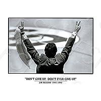 ポスター–カレッジバスケットボールJim Valvanoポスター印刷–North Carolina State–Never Give Up