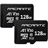 ARCANITE 2 Pack 128GB microSDXC Memory Card - UHS-I U3, A1, V30, 4K, C10, MicroSD, Optimal Read speeds up to 90 MB/s
