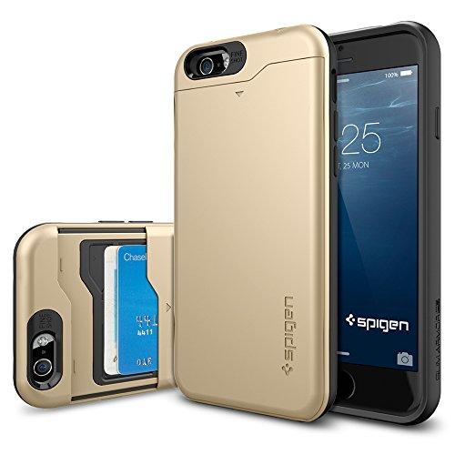 iPhone 6 ケース, Spigen® [ IC カード 収納可能] スリム・アーマーCS *Apple iPhone 4.7* (2014) The New iPhone アイフォン6 カバー **カード スライダー** (国内正規品) (シャンパン・ゴールド  【SGP10967】)