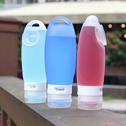 ValourGo トラベルボトル シリコン製小分けボトル 漏れ防止 出張 海外旅行用 携帯詰め替え容器 (89ml/4個入り/化粧品容器2個付)