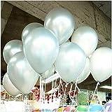 メイハウス50 個12インチバルーン風船 ラテックス風船 バルーン パーティー お誕生日会 結婚式 飾り付け (ホワイト)