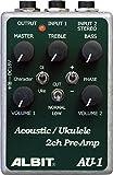 ALBIT 2チャンネル・アコースティック楽器用プリアンプ Acoustic・Ukulele PRE-AMP AU-1