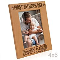 Kate Posh - First Father's Day with Daddy & Me Picture Frame (4x6-Vertical) [並行輸入品]