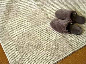 10帖サイズの日本製折り畳み簡易カーペット『フィオーレ』 アイボリー