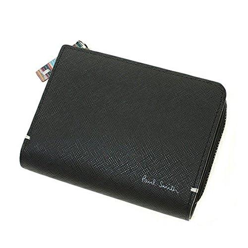 ポールスミス Paul Smith 財布 二つ折り財布 メンズ ジップストローグレイン PSK865 ブラック