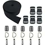 Buckles Kits, 2 Inch Width, 5 Yards Straps + 5 Buckles Set
