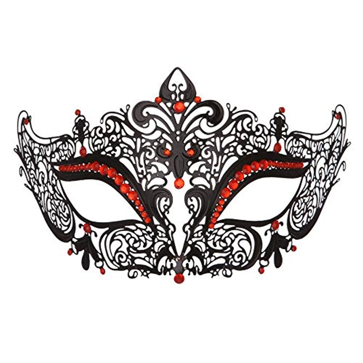 十分ではない風が強い大工ダンスマスク 高級金属鉄マスク女性美少女中空ハーフフェイスファッションナイトクラブパーティー仮面舞踏会マスク ホリデーパーティー用品 (色 : 白, サイズ : 19x8cm)