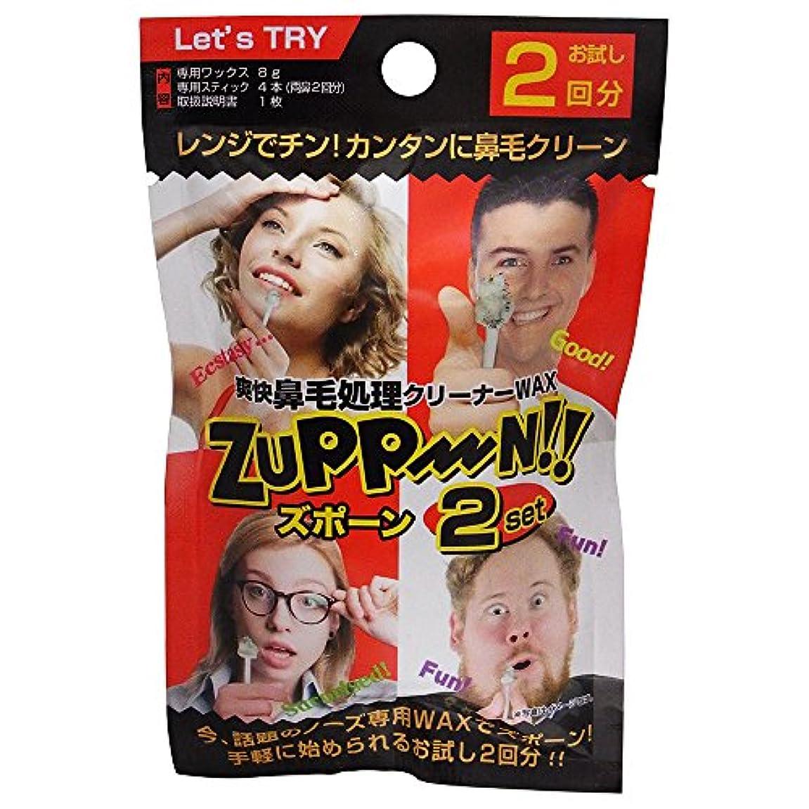 一人で暴露する経度爽快鼻毛処理WAX ズポーン (2回分)