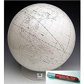 白地図地球儀 (日本語版) 4000万分の1 アクリル台 【渡辺教具】