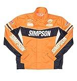 シンプソン(SIMPSON) バイク用レインスーツ レインジャケット セパレート オレンジ M SRS-6191