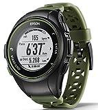 [エプソン] 腕時計 リスタブルジーピーエス GPSランニングウォッチ 脈拍計測 J-50K カーキ
