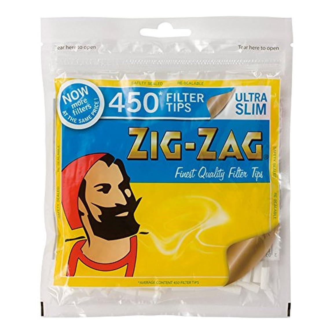 旧正月無許可死の顎ZIG-ZAG(ジグザグ) ウルトラスリム フィルター 450 直径5mm 約450個入り #78538