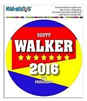 スコットウォーカー社長のための 2016 選挙運動 MAG-NEATO'S(TM) サークルビニールマグネット