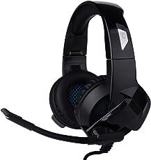 POBO ゲーミングヘッドセット 高音質 マイク付き 伸縮性有り 折り畳み可能 PS4/XboxOne/PC多機種対応 ゲーム用ヘッドホン ブラック