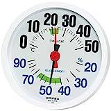 EMPEX エンペックス 温湿度計 LUCIDO ルシード 大きな文字でハッキリ見える 壁掛け用 TM-2671 ホワイト TM-2671