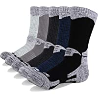 YUEDGE Men's 5 Pairs Cushion Crew Outdoor Sports Athletic Workout Hiking Socks