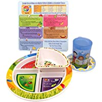 Fresh Baby 4-Piece Set of Plate, Bowl, Training Cup and Tip Card [並行輸入品]
