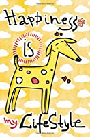 Journal Notebook for Dog Lovers, Happiness Is My Lifestyle Yellow Dog 5: 162 Lined and Numbered Pages with Index for Journaling, Writing, Planning and Doodling, for Women, Men, Kids, Easy to Carry Size.