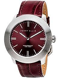 [ペリー・エリス]Perry Ellis 腕時計 SLIM LINE(スリム・ライン) クォーツ 46 mmケース 本革バンド 03003-01 メンズ 【正規輸入品】