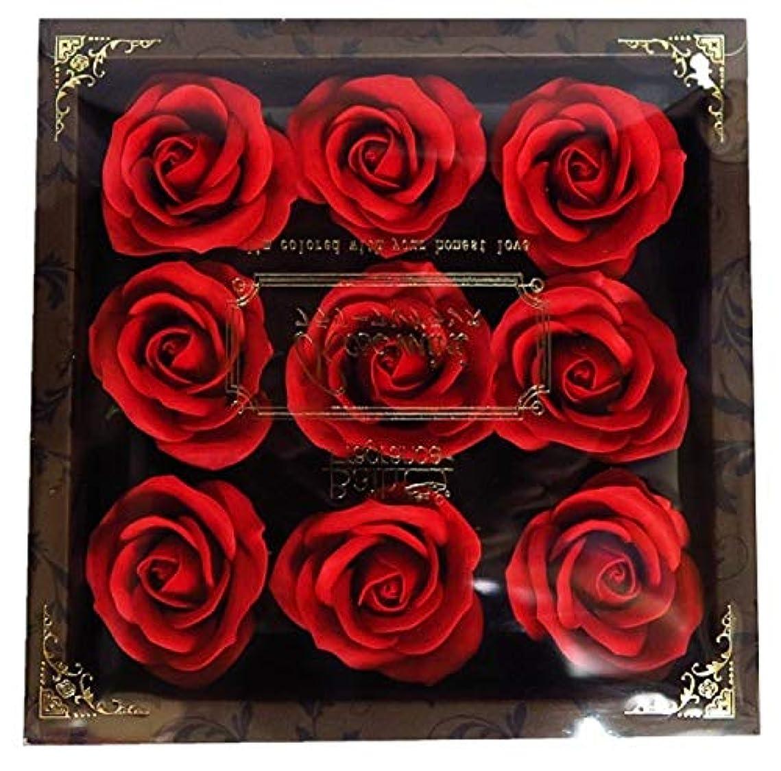 アセンブリトランクライブラリ蓋バスフレグランス フラワーフレグランス ミニローズフレグランス(L)レッド ギフト お花の形の入浴剤 プレゼント ばら