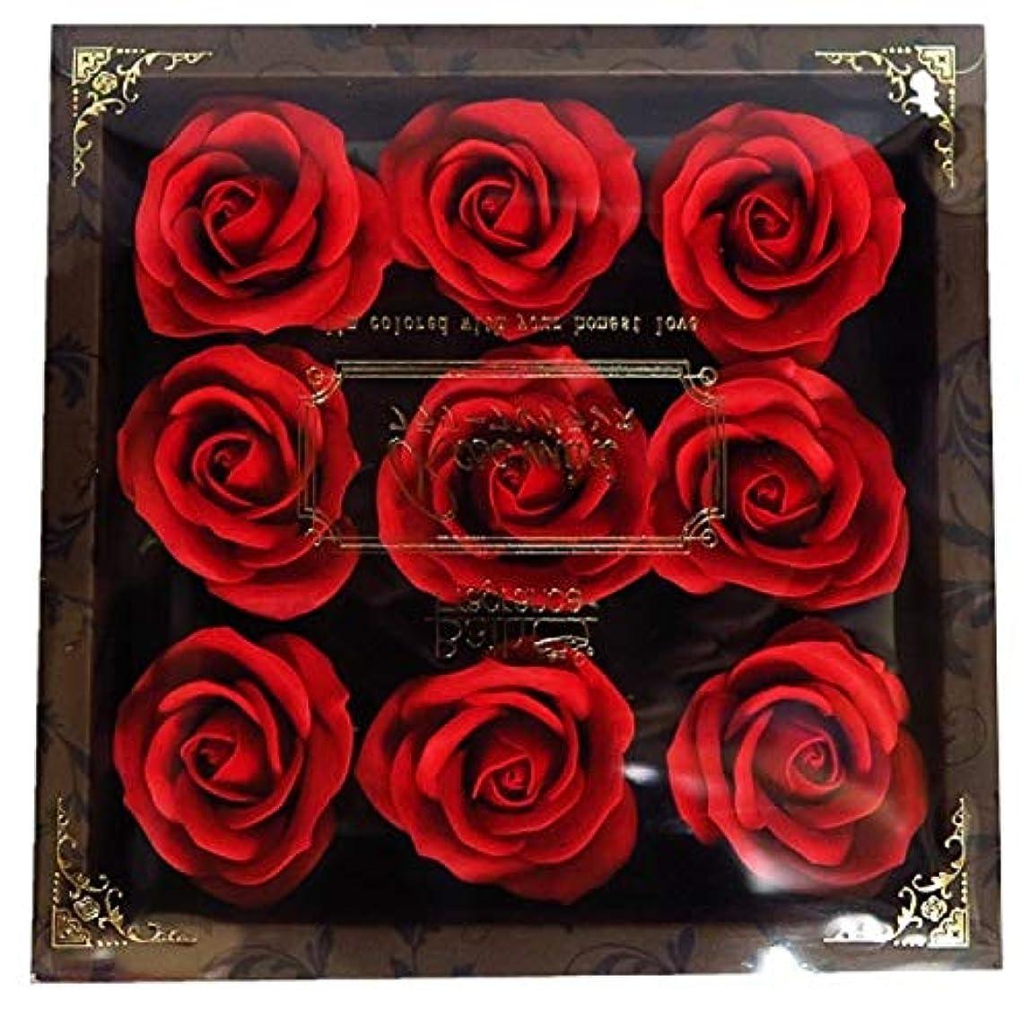 ゲインセイさせる名目上のバスフレグランス フラワーフレグランス ミニローズフレグランス(L)レッド ギフト お花の形の入浴剤 プレゼント ばら