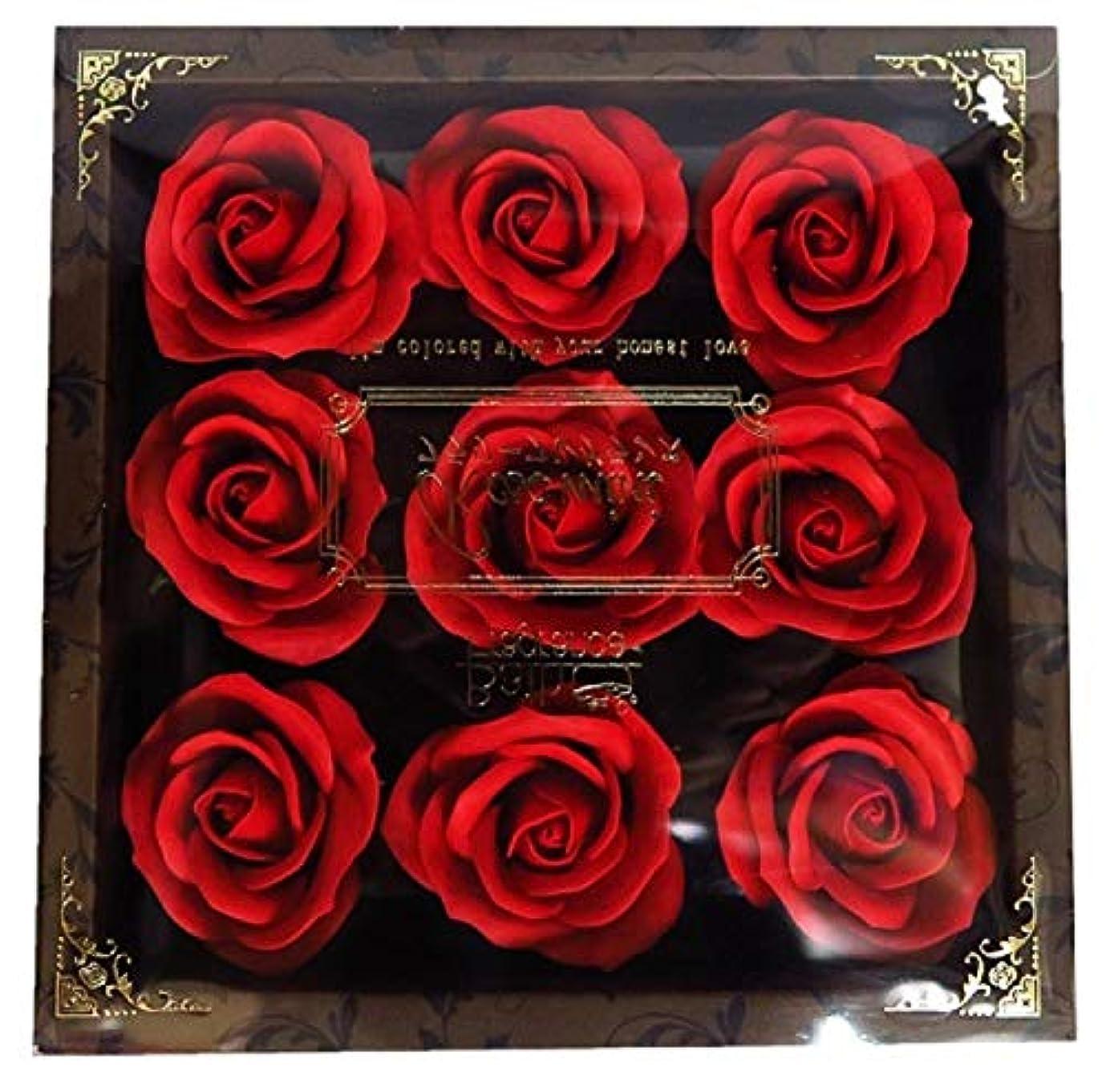 分析する空中フレアバスフレグランス フラワーフレグランス ミニローズフレグランス(L)レッド ギフト お花の形の入浴剤 プレゼント ばら